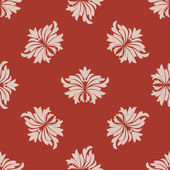 Red and beige seamless floral pattern — Wektor stockowy