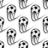 Seamless pattern of speeding soccer balls — Stock Vector