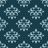 Blå sömlös blommönster — Stockvektor
