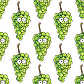 Seamless pattern of bunches of green grapes — Stock Vector