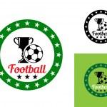Football or soccer emblem — Stock Vector
