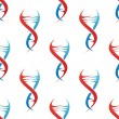 Stylized DNA spiral helix seamless pattern — Stockvector  #48432805