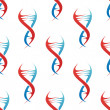 Stylized DNA spiral helix seamless pattern — Vecteur #48432805