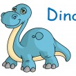 Funny blue dino — Stock Vector #48432925