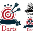 Darts sport emblem — Stock Vector #48432977