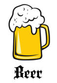 Beer tankard emblem — Vector de stock