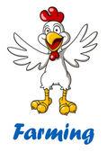 Cartoon rooster — Stock Vector
