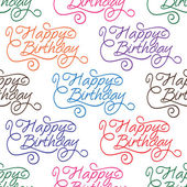 Happy Birthday seamless background pattern — Stock Vector