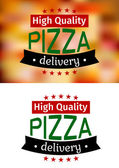 Piiza delivery banners — Stock Vector