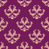 Purple and beige seamless floral pattern — Stock Vector