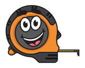 Builders tape measure with a big happy smile — Stock Vector