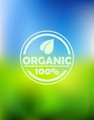 Bio organic label — Stock Vector
