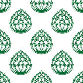Hop blossoms seamless pattern — Vettoriale Stock
