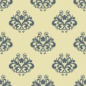 Retrô sem costura padrão floral — Vetorial Stock