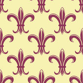 Fleur de lys seamless pattern — Stock Vector