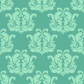Light green seamless damask pattern — Stock Vector