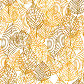 Autumnal leaves seamless pattern — Stockvektor