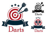 Darts sport emblem — Stock Vector