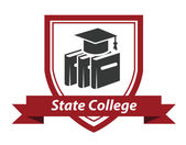 State College emblem — Stock Vector
