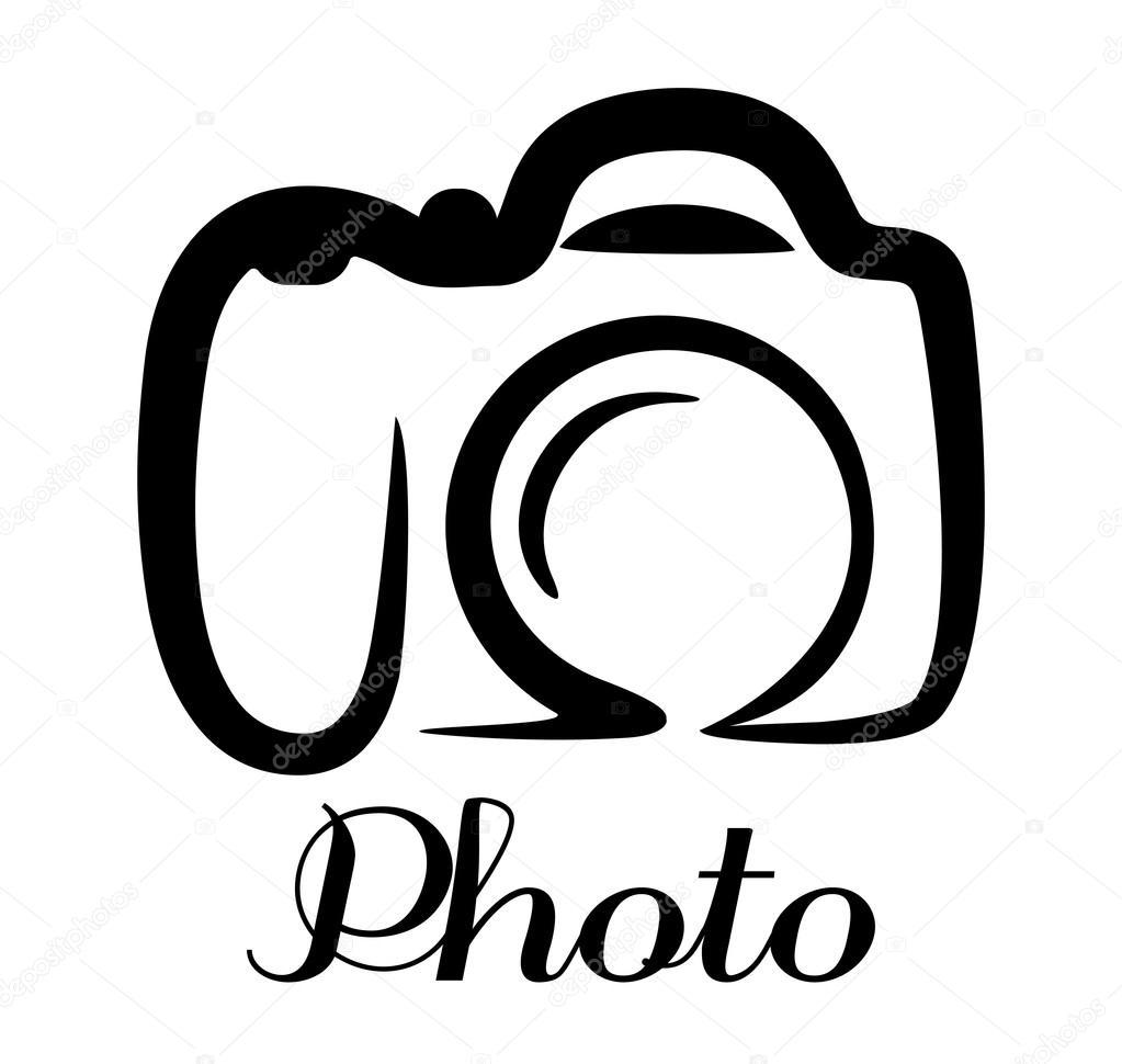 Emblema de la c mara de foto vector de stock for Immagini vector