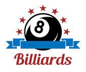 Billardsport symbol — Stockvektor