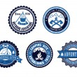 Set of Outdoor Adventure and Camping emblems — Stock Vector #49180145