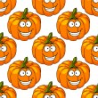 Happy smiling fresh pumpkin seamless pattern — Stock Vector #49180347