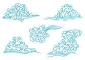 синие облака набор — Cтоковый вектор