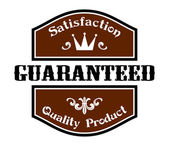 Satisfaction Guaranteed Quality label — Vettoriale Stock