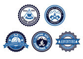 Set of Outdoor Adventure and Camping emblems — Stock Vector
