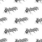 Music score and notes background seamless pattern — Vecteur