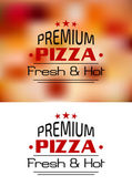 Premium Pizza Fresh and Hot poster design — Stock Vector