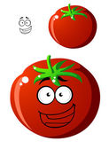 Ripe red cartoon tomato — Stock Vector