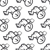Seamless pattern of communications satellite icon — ストックベクタ
