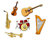 Set of classic musical instruments — Vettoriale Stock