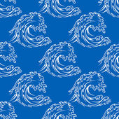 Seamless pattern of a curling waves — Stockvector