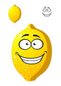 Happy smiling yellow cartoon lemon fruit — Stock Vector