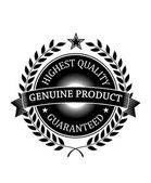 Highest Quality Guaranteed Genuine label — Stock Vector