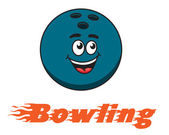 Bowling and bowling ball icon — Stock Vector