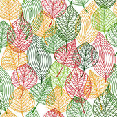 Autumnal leaves seamless pattern — Stock Vector