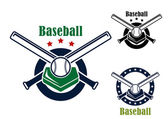 Baseball emblems and symbols — Vector de stock