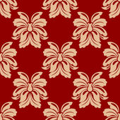 Dainty beige and maroon floral seamless pattern — Stock Vector