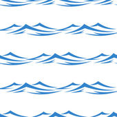 Undulating waves seamless background pattern — Stock Vector