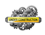 Under construction web page — Stock Vector