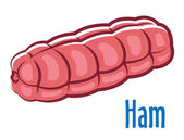 Traditional whole ham — Stock Vector