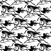Seamless pattern of horse stallions — Stock Vector