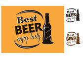 Best Beer - enjoy tasty - poster — Stock Vector