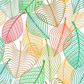 Seamless pattern of colorful leaves — Stock Vector