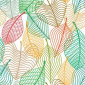 无缝模式的五颜六色的树叶 — 图库矢量图片