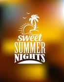 Sweet Summer Nights banner — Stock Vector
